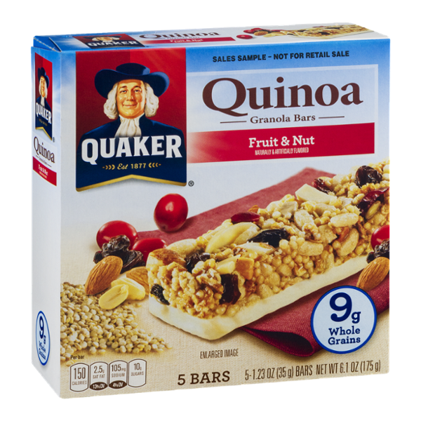 Quaker® Quinoa Granola Bars Fruit & Nut