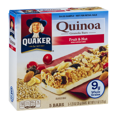 Quaker Quinoa Granola Bars Fruit & Nut