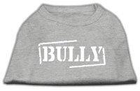 Mirage Pet Products 5122 LGGY Bully Screen Printed Shirt Grey Lg 14