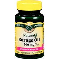 Spring Valley : Women's Health* Borage Oil 500 Mg Per Softgel