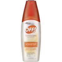 OFF! FamilyCare Unscented with Aloe Vera Insect Repellent