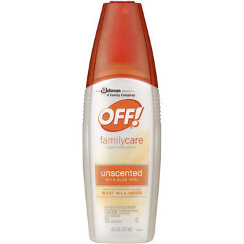 Off! FamilyCare Unscented with Aloe Vera Insect Repellent IV, 6 fl oz