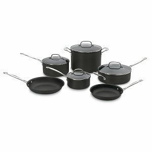 Cuisinart Chef's Classic Hard Anodized Non-stick 10-piece Cookware Set