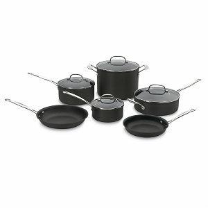 Cuisinart Chef's Classic Hard Anodized Non-stick 10-piece Cookware Set
