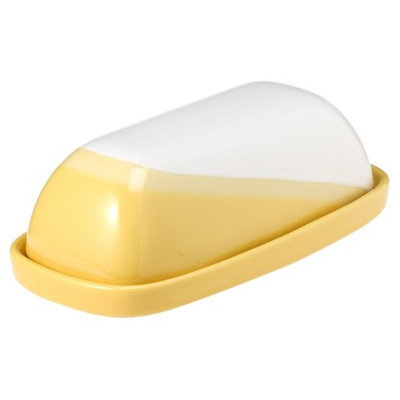 Threshold Ceramic Paint Dipped Butter Dish - Yellow