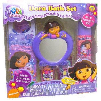 Berger Dora the Explorer Bathing Beauty 6 Pcs Gift Set ( Mirror, Bath Foam, Lotion, Door Hanger, Comb, Shampoo )