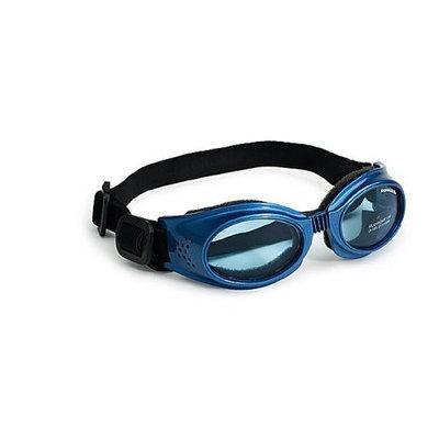Doggles Original Dog Lenses Size: Large, Color: Blue Frame / Blue Lenses