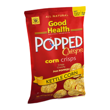 Good Health Popped Corn Crisps Kettle Corn
