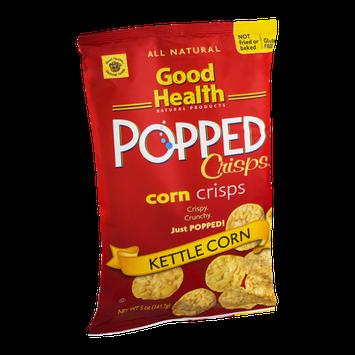Good Health Popped Corn Crisps Kettle Corn