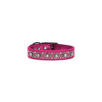 Mirage Pet Products 83-30 16PkM Metallic Fancy Jewel Leather Metallic Pink 16