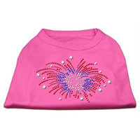 Mirage Pet Products 5229 XSBPK Fireworks Rhinestone Shirt Bright Pink XS 8