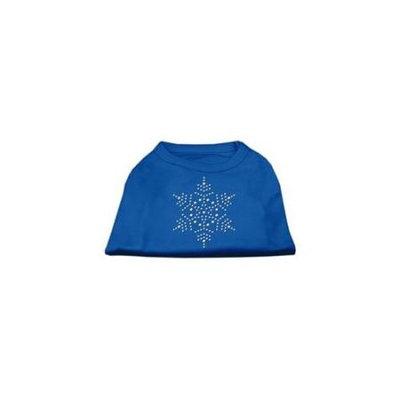 Ahi Snowflake Rhinestone Shirt Blue XXXL (20)
