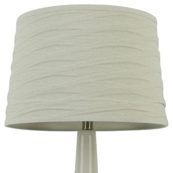 Threshold Linen Overlay Lamp Shade - White Large