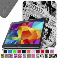 Fintie Smart Shell Case Ultra Slim Lightweight Stand Cover for Samsung Galaxy Tab 4 10.1 Tablet, Newspaper