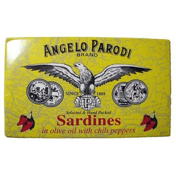 Angelo Parodi Portugese Sardines in Olive Oil with Chili Peppers 120 Grm Tin