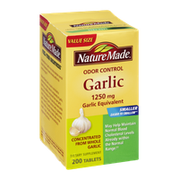 Nature Made Odor Control 1250 mg Garlic Equivalent Dietary Supplement- 200 CT