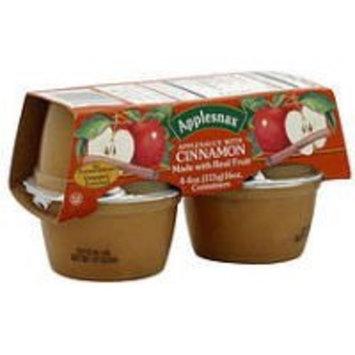 Applesnax Cinnamon Apple Sauce Cups, 4 OZ (Case of 12)