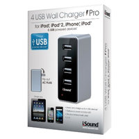 iSound 4 USB Wall Charger Pro for iPad/iPhone/iPod and any USB