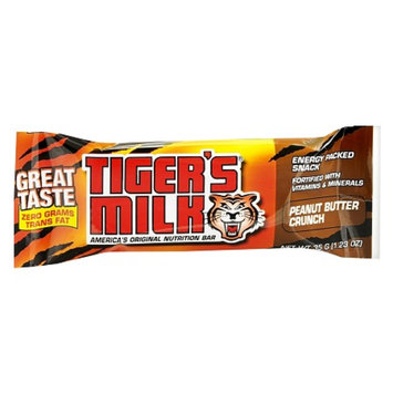 Tiger's Milk Nutrition Bars 24 Pack Peanut Butter Crunch