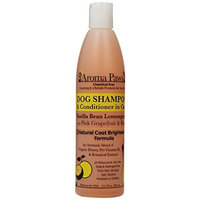 Aroma Paws 12 oz. Luxury Dog Shampoo & Conditioner in One Vanilla Lemongrass: Natural Coat Brightener Formula