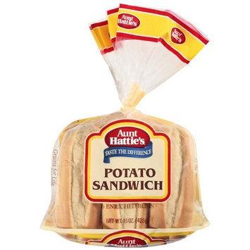 Aunt Hattie's Potato Sandwich Enriched Buns, 15 oz