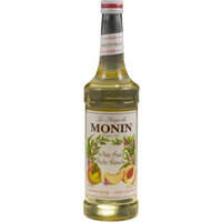 Monin Flavored Syrup,White Peach, 33.8-Ounce Plastic Bottle (1 liter)