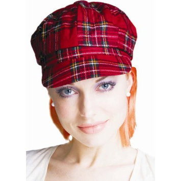 Dress Up America 261 Red Plaid Costume Hat with Orange Hair