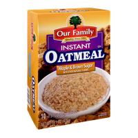Our Family Instant Oatmeal Maple & Brown Sugar Flavor