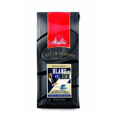 Melitta Cafe de Europa Gourmet Coffee, Blanc et Noir Whole Bean, Light & Dark Roast, 9 Ounce (Pack of 3)