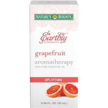 Nature's Bounty Earthly Elements Grapefruit Aromatherapy 100% Pure Essential Oil, 0.34 fl oz