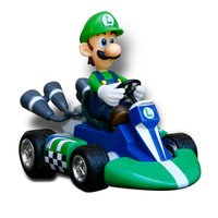 Goldie International Mario Kart Small Radio Control Kart Vehicle - Luigi