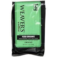 Weaver's Coffee Tea Weaver's Coffee and Tea, Peru Organic Ground Coffee, 12-Ounce Bags (Pack of 2)