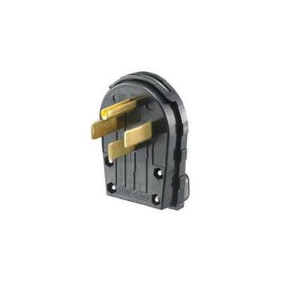 Hubbell Wiring 158855 Angle Plug, Black