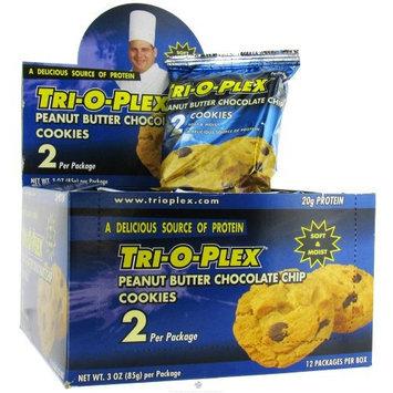 Chef Jay's Tri-O-Plex Cookies - Peanut Butter Chocolate Chip