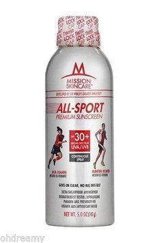 Mission Skincare All-Sport Premium Sunscreen Continuous Spray, SPF 30+ 5 oz (141 g)