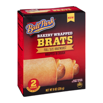 Ball Park Brats Bakery Wrapped - 2 CT