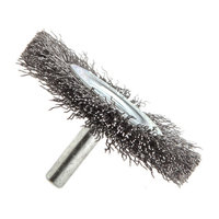 Forney 60015 Wheel Brush Coarse Crimped Wire with 1/4 Inch Shank 2 1/2 Inch