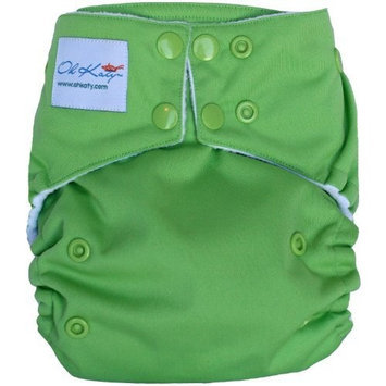Oh Katy One Size Pocket Diaper, Green Apple