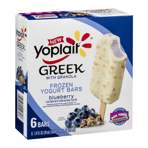 Yoplait® Greek Frozen  Blueberry with Granola Yogurt Bars