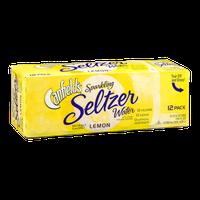 Canfields Sparkling Seltzer Water Lemon - 12 CT