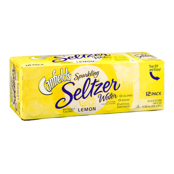 Canfields Sparkling Seltzer Water Lemon - 12 CT