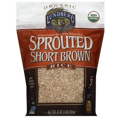 Lundberg Family Farms Sprouted Short Brown Rice, 16 oz, (Pack of 6)