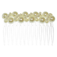 RIVIERA, A STYLEMARK CO Women's Riviera Comb with Simulated Pearls - Ivory