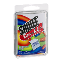 Shout Wipe & Go Individual Wipes - 4 CT