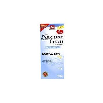 Members Mark Member's Mark Nicotine Gum Polacrilex 4mg, Stop Smoking Aid, Original Flavor Pieces, 240-Count