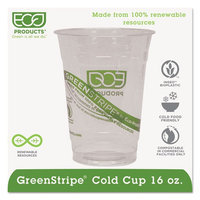Eco Products Eco-Products GreenStripe Renewable Resource Compostable Cold Drink