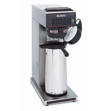 Bunn 120-cup Commercial Pourover Airpot Coffee Maker, 23001.0000, Black/Stainless