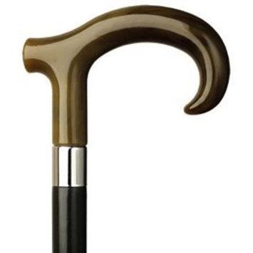 Harvy Men Derby Hook Cane Black Maple Shaft, Horn Handle -Affordable Gift! Item #HAR-9120131
