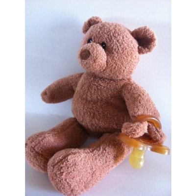 BinkiBear Posh Teddy with Hevea Pacifier, Brown