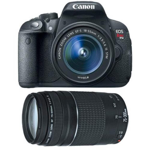 Canon EOS Rebel T5i Digital SLR Camera & EF-S 18-55mm IS STM Lens with Canon EF 75-300mm f/4-5.6 III Zoom Lens